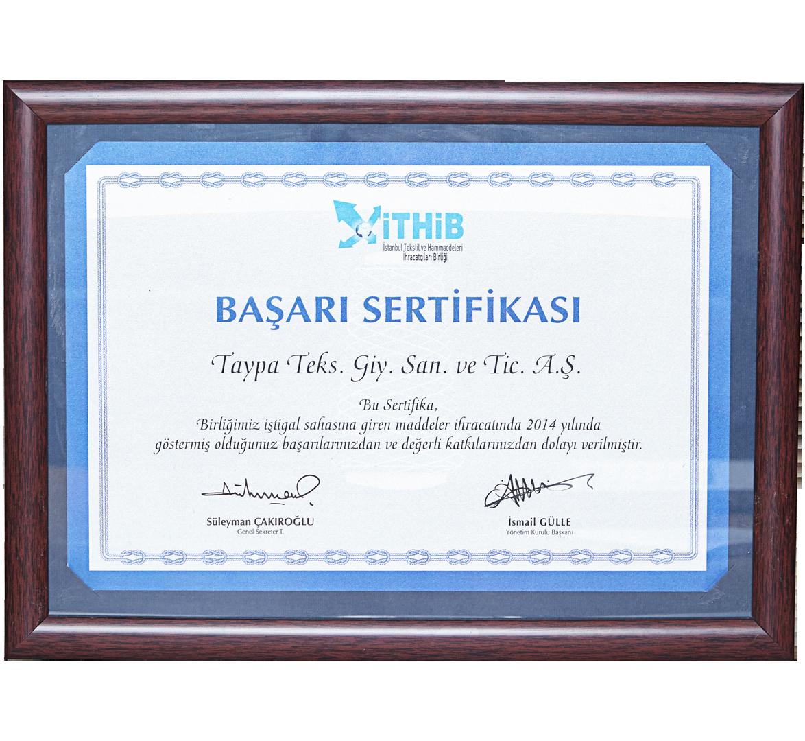 Başarı Sertifikası 2014